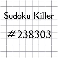 Sudoku asesino №238303