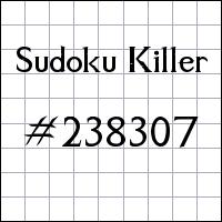 Sudoku asesino №238307