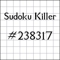 Sudoku asesino №238317