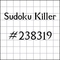 Sudoku asesino №238319