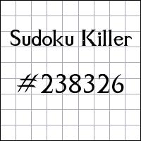 Sudoku asesino №238326