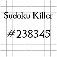 Sudoku asesino №238345