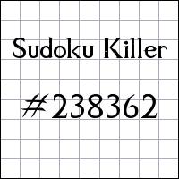 Sudoku asesino №238362