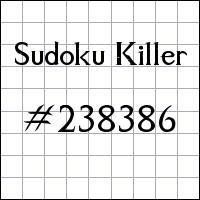 Sudoku asesino №238386