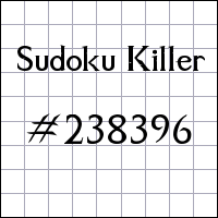 Sudoku asesino №238396