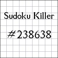 Sudoku asesino №238638