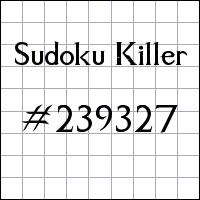 Sudoku asesino №239327