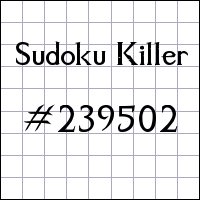 Sudoku asesino №239502
