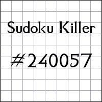 Sudoku asesino №240057