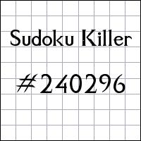 Sudoku asesino №240296