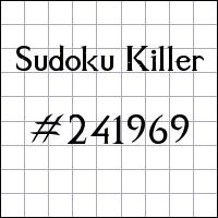 Sudoku asesino №241969