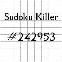 Sudoku asesino №242953