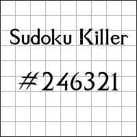 Sudoku asesino №246321