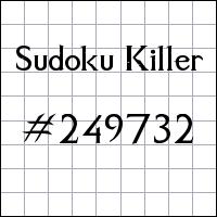 Sudoku asesino №249732