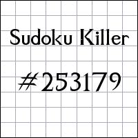 Sudoku asesino №253179