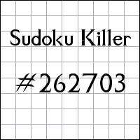 Sudoku asesino №262703