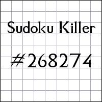 Sudoku asesino №268274