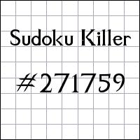 Sudoku asesino №271759