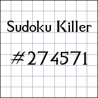 Sudoku asesino №274571