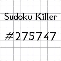 Sudoku asesino №275747