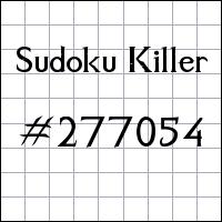 Sudoku asesino №277054