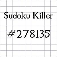 Sudoku asesino №278135