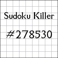 Sudoku asesino №278530