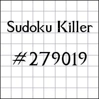 Sudoku asesino №279019