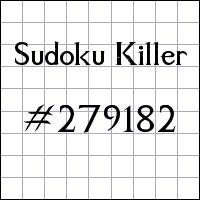 Sudoku asesino №279182