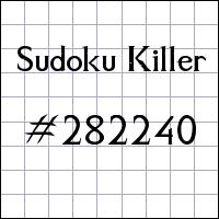 Sudoku asesino №282240
