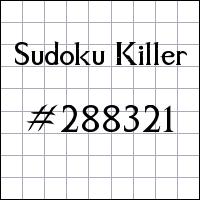 Sudoku asesino №288321