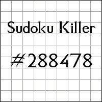 Sudoku asesino №288478