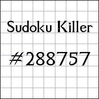 Sudoku asesino №288757
