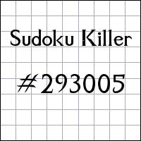 Sudoku asesino №293005