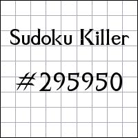 Sudoku asesino №295950
