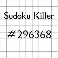 Sudoku asesino №296368