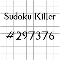 Sudoku asesino №297376