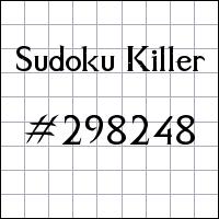 Sudoku asesino №298248