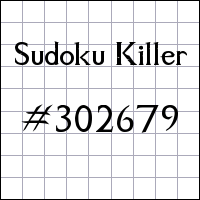 Sudoku asesino №302679