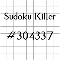 Sudoku asesino №304337