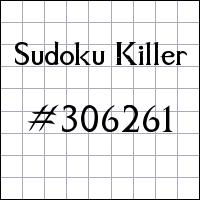 Sudoku asesino №306261