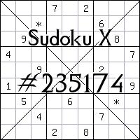 Sudoku X №235174