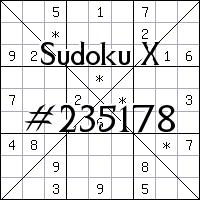 Sudoku X №235178