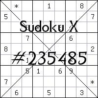 Sudoku X №235485