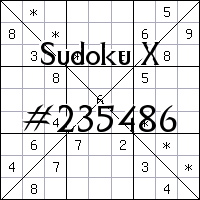 Sudoku X №235486