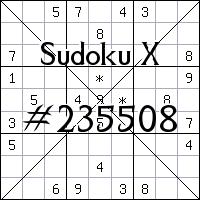 Sudoku X №235508