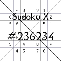 Sudoku X №236234