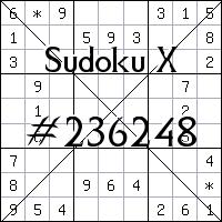 Sudoku X №236248