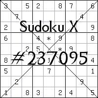 Sudoku X №237095