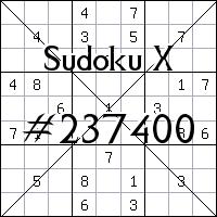 Sudoku X №237400